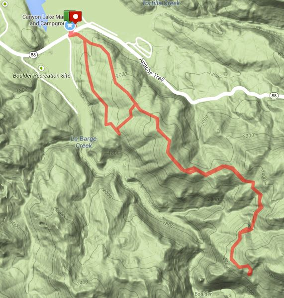 Boulder Canyon Overlook Map